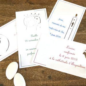 Carte bapteme communion confirmation